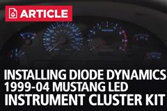 Installing Diode Dynamics 99-04 Mustang LED Instrument Cluster Kit