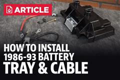 How To Install Fox Body Mustang Battery Tray & Cable Kit