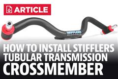 How To Install Mustang Stifflers Tubular Transmission Crossmember