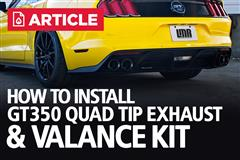 How To: Install GT350 Quad Tip Exhaust & Valance