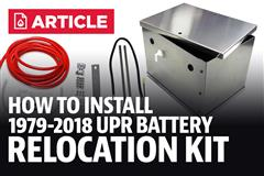 How to Install Mustang UPR Battery Relocation Kit