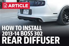 How To Install Mustang Boss 302 Rear Diffuser (13-14)