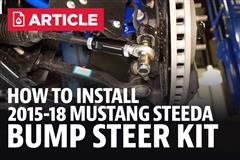How To Install Mustang Bump Steer Kit (2015-2019)