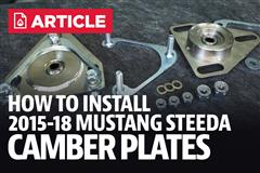 How To Install Mustang Camber Plates (2015-2019)