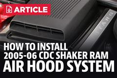 How To Install Mustang CDC Shaker Ram Air Hood System (05-06)