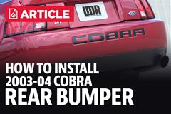 How To Install Mustang Cobra Rear Bumper Cover (03-04)