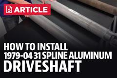 How To Install Mustang Ford Racing Aluminum Driveshaft 31 Spline (79-04)