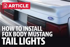 How To Install Fox Body Mustang Tail Lights