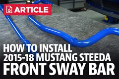 How To Install Mustang Front Sway Bar (15-18)