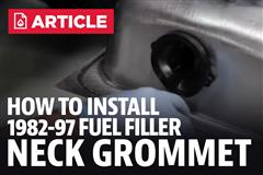 How To Install 1982-1997 Mustang Fuel Filler Neck Grommet
