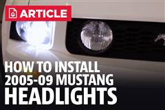 How To Install Mustang Headlights (05-09)