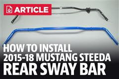 How To Install Mustang Rear Sway Bar (15-18)