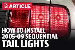 How To Install Mustang Sequential Tail Light Kit (05-09)