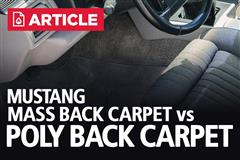 Mustang Mass Back Carpet Vs Poly Back Carpet