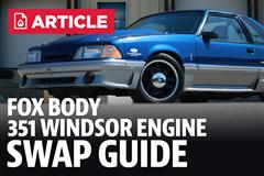 Mustang Fox Body 351W Engine Swap Guide