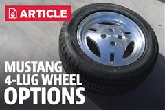Mustang 4 Lug Wheel Options