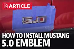How To Install Mustang 5.0 Emblem (79-93)