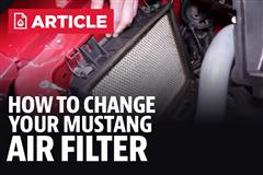 How To Change An Air Filter In A Ford Mustang