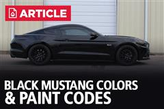 Black Mustang Colors & Paint Codes