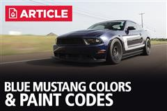 Blue Mustang Colors & Paint Codes