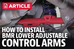 How To Install Mustang BMR Adjustable Lower Control Arms (79-04)
