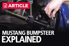 Mustang Bump Steer Correction Explained
