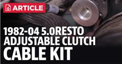 How To Install Mustang Clutch Cable (82-95)