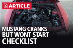 Mustang Cranks But Won't Start Checklist