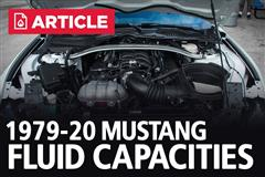 1979-2020 Mustang Fluid Capacities