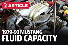 1979-1993 Ford Mustang Fluid Capacity