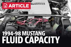 1994-1998 Ford Mustang Fluid Capacity