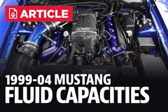 1999-2004 Ford Mustang Fluid Capacity