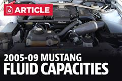 2005-2009 Ford Mustang Fluid Capacity