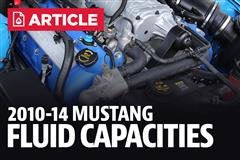 2010-2014 Ford Mustang Fluid Capacity