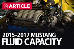 2015-2017 Ford Mustang Fluid Capacity