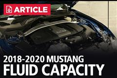 2018-2020 Ford Mustang Fluid Capacity
