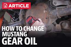 How To Change Mustang Gear Oil