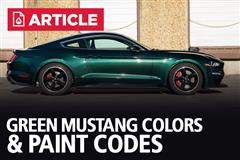 Green Mustang Colors & Paint Codes