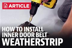 How To Install Mustang Inner Door Belt Weatherstrip (87-93)