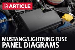 Mustang/Lightning Fuse Panel Diagrams