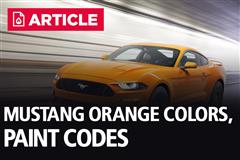 Orange Mustang Colors & Paint Codes