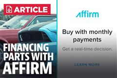 Financing Mustang Parts With Affirm