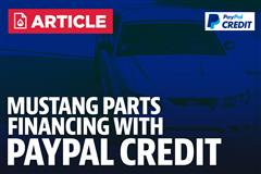 Mustang Parts Financing - Paypal Credit