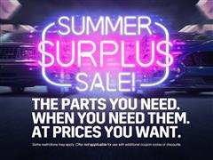 Summer Surplus Sale