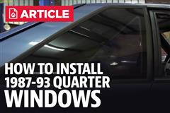 How To Install Fox Body Mustang Quarter Windows (87-93)