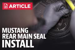 How To Install Mustang Rear Main Seal