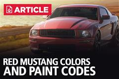 Red Mustang Colors & Paint Codes