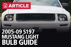 2005-09 Mustang Light Bulb Guide