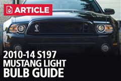 2010-14 Mustang Light Bulb Guide