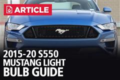2015-20 Mustang Light Bulb Guide
